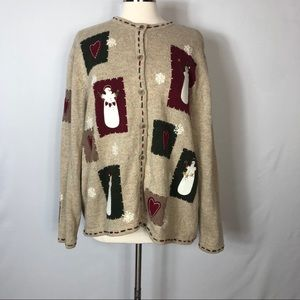 Croft & Barrow Snowman Christmas Sweater